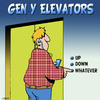 Cartoon: Whatever (small) by toons tagged gen,elevators,ipod