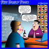 Cartoon: Wine drinkers (small) by toons tagged wine,shop