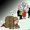 Cartoon: Woof (small) by toons tagged animal,fur,fashion,dogs,anti,protesters,leopard,skin,coat