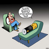 Cartoon: work lifestyle balance (small) by toons tagged work,lifestyle,balance,batteries,over,worked