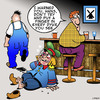 Cartoon: Wrong Dyke (small) by toons tagged lesbian,dyke,boy,with,finger,in,gay,bar