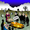 Cartoon: ZZZZZ (small) by toons tagged funeral,cemetary,priest,sleeping,coffin,mourners