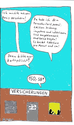 Cartoon: Penis-Versicherung (medium) by Müller tagged versicherung,tarif