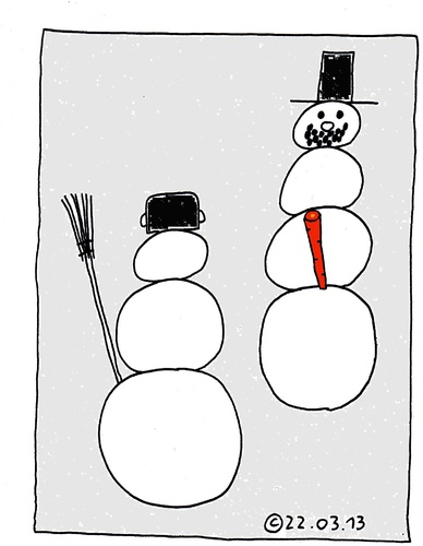 Cartoon: Schneemann (medium) by Müller tagged schneemann,winter,snowman,mohrrübe,carrott