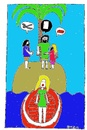 Cartoon: 3 Robinsons (small) by Müller tagged robinson,3robinsons,insel,island,boot,boat,mädchen,girl