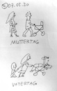Cartoon: Muttertag Vatertag (small) by Müller tagged muttertag,vatertag