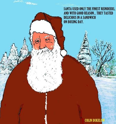Santa claus by sausage factory religion cartoon toonpool