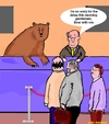 Cartoon: Bear (small) by sausage factory tagged bear,with,me,cartoon