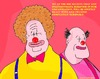 Cartoon: Clowns (small) by sausage factory tagged bbc,chiefs,scandal,clowns,idiots,colour,humor,humour