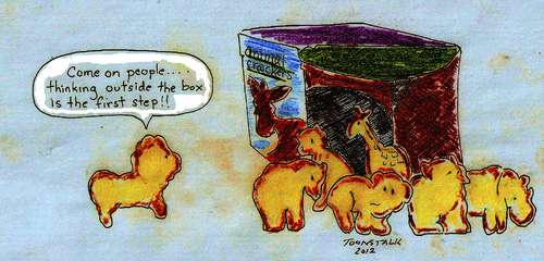 Cartoon: ANIMAL CRACKERS (medium) by Toonstalk tagged crackers,animals,box,food,lions,tigers,giraffes,rhinos,bears,goodies,treats