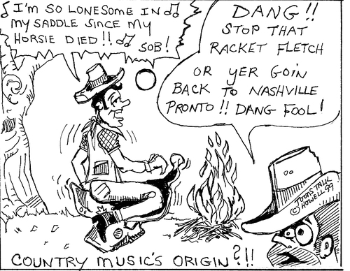 country music origins by toonstalk