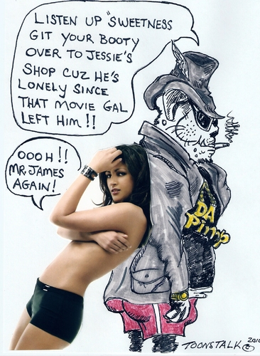 Cartoon: DA PIMP JESSIES GIRL (medium) by Toonstalk tagged pimp,jessie,james,call,girls,scandels