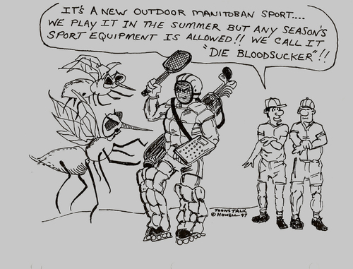 Cartoon: DIE BLOODSUCKERS (medium) by Toonstalk tagged sports,blood,sucker,manitoba,canada