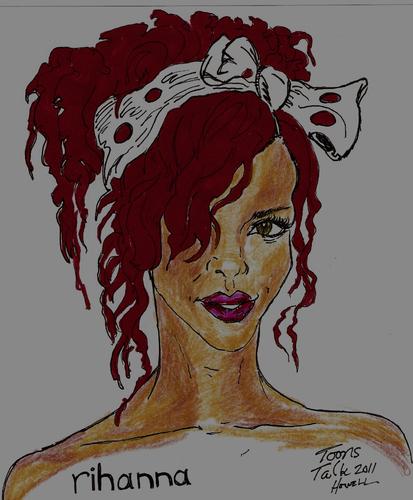 RIHANNA By Toonstalk   Famous People Cartoon   TOONPOOL