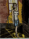 Cartoon: BACK ALLEY CAT (small) by Toonstalk tagged alley,cat,evening,summer,nightime,stroll,girl,mysterious,aware