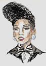 Cartoon: Janelle Monae (small) by Toonstalk tagged janelle,monae,singer,siren,jazz,new,music,entertainer,tightrope