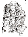 Cartoon: TOONSTALK WORLD (small) by Toonstalk tagged detective,sexy,siren,god,soldier,devil,leading,man,artist