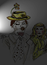Cartoon: WAITING IN THE WINGS (small) by Toonstalk tagged clown,crying,performer,theatre,mask,makeup,girl,hobo,actor