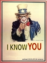 Cartoon: I know you (small) by tiefenbewohner tagged nsa,uncle,sam,spione,privatsphäre,abhörskandal,überwachung