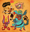 Cartoon: Real Ones (small) by Garvals tagged monster,gromble,ickis,oblina,krumm,nickelodeon