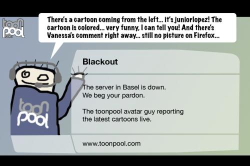 Cartoon: Blackout (medium) by prinzparadox tagged blackout,bildstörung,bild,störung,empfang,tv,bela,rethy,zdf,basel,kommentator,suisse,austria,autriche,fussball,fußball,soccer,em,euro,2008,europameisterschaft,weltmeisterschaft,championship,uefa,fifa