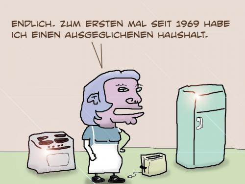 Cartoon: Haushalt (medium) by prinzparadox tagged haushalt,deutschland,germany,1969,wachstum,growth,wirtschaft,economy