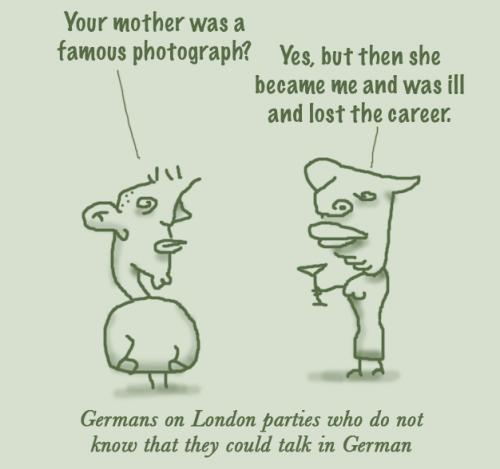Cartoon: London Party (medium) by prinzparadox tagged party,language,german,english,london,misunderstanding,speech,deutsch