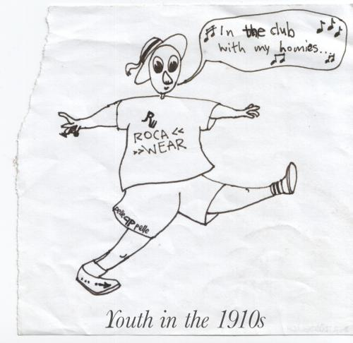 Cartoon: Youth in the 1910s (medium) by prinzparadox tagged youth,music,usher,hip,hop,hiphop,teenager,history,kids,children,rebel,childhood