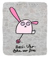 Cartoon: Hasi 22 (small) by schwoe tagged hasi,hase,uhr,zeit