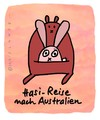 Cartoon: Hasi 4 (small) by schwoe tagged hase australien känguruh reise