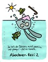 Cartoon: Hasi 60 (small) by schwoe tagged hase,hasi,wasser,fall,achtsamkeit,bach