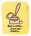 Cartoon: Hasi 8 (small) by schwoe tagged hase,ohr,sonne,sonnenbrille,hell,blendung