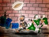 Cartoon: hunger (small) by bilgehananil tagged american,football,hunger,bread,rugby