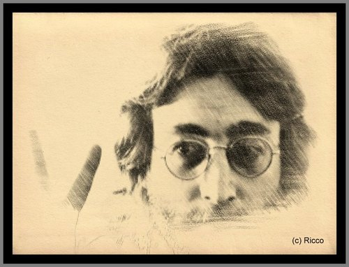 Cartoon: Legends never die (medium) by RnRicco tagged liverpool,england,pop,rock,music,lennon,john,beatles