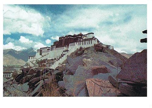 Cartoon: POTALA PALACE - Tibet (medium) by RnRicco tagged tibetian,buddhism,tensing,gyatzo,china,tibet,lhasa