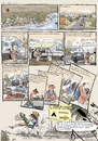 Cartoon: Comic Nr 1 (small) by H Mercker tagged comic,camping,campingplatz,reichtum,luxus,verzicht,essen,jugend,tramper,backpacker,reisende,süden,torismus,touristen