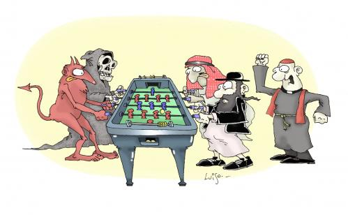 Cartoon: dangerous game (medium) by Luiso tagged game
