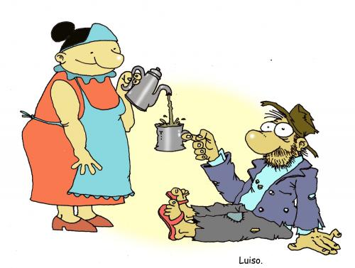 Mendigo By Luiso | Politics Cartoon | TOONPOOL