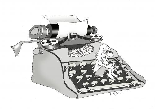 Cartoon: Olivetti (medium) by Luiso tagged olivetti