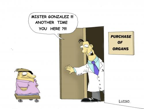 Cartoon: Purchase of Organs (medium) by Luiso tagged organs