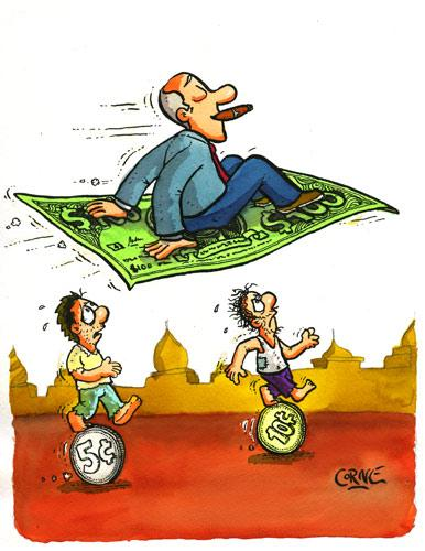 Cartoon: Traveling with money (medium) by corne tagged flying,carpet,