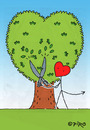 Cartoon: 100 Ways To Say I Love You No. 2 (small) by piro tagged love,lovedevil,tree,heart