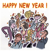 Cartoon: Happy New Year 2015 (small) by piro tagged new,year,holiday,2015