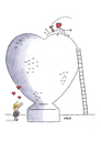 Cartoon: I love you this big! (small) by piro tagged love,lovedevil,sculpture