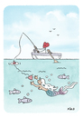 Cartoon: Underwater Love (small) by piro tagged lovedevil,mermaid,love,sea