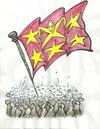 Cartoon: the flag (small) by necmi oguzer tagged flag