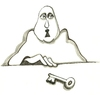 Cartoon: the key (small) by necmi oguzer tagged sprechen,speak,redefreiheit,freedom