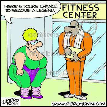 Cartoon: Fitness (medium) by Piero Tonin tagged gyms,gym,fitness,tonin,piero,overweight,weight,fat,women
