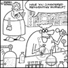 Cartoon: Inventions (small) by Piero Tonin tagged piero,tonin,marriage,husband,wife,nagging,couple,relationship,relationships,invention,inventions,inventor,inventors,reinvent,reinventing
