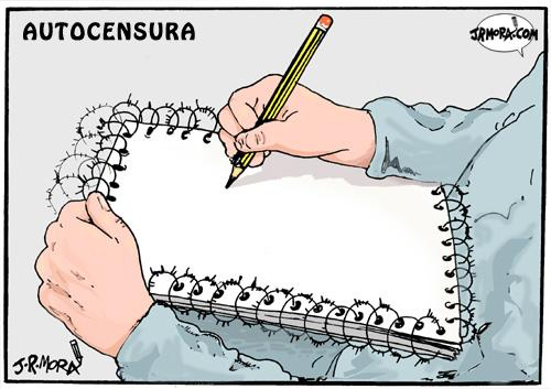 Cartoon: Autocensura (medium) by jrmora tagged censura,autocensura